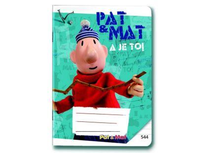 Sešit A5/544, 40 listů linkovaný Pat a Mat