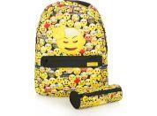 Set batohu s pouzdrem Emoji Yellow