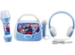 Set Frozen se sluchátky, baterkou a karaoke boxem