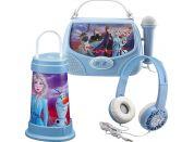 Set Frozen se sluchátky, svítilnou a karaoke boxem