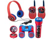 Set Spiderman vysílačky, sluchátka, baterka a kompas