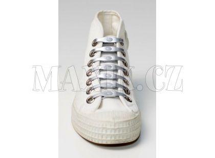 Shoeps Silikonové tkaničky - silver