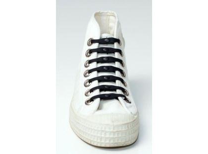 Shoeps Silikonové tkaničky - black