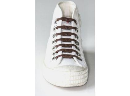 Shoeps Silikonové tkaničky - brown