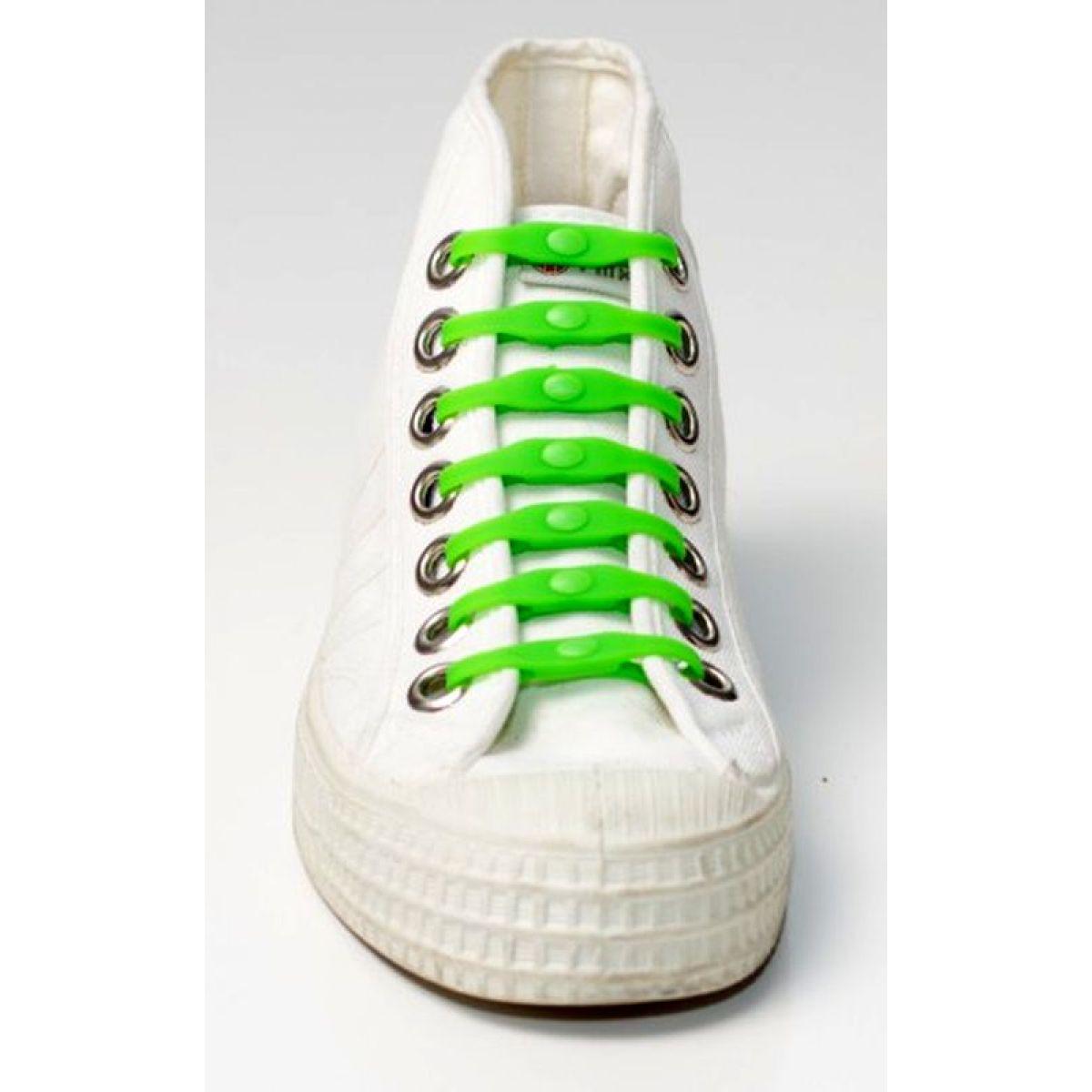 Shoeps Silikonové tkaničky - green