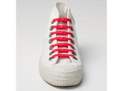 Shoeps Silikonové tkaničky - red