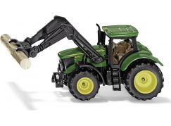 Siku Blister 1540 traktor John Deere s uchopovačem klád