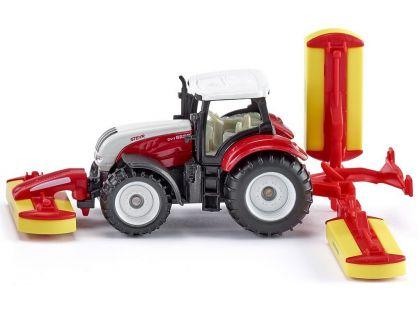 Siku Blister 1672 Traktor Steyr se sekacími nástavci