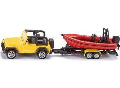 Siku Blister Jeep se člunem