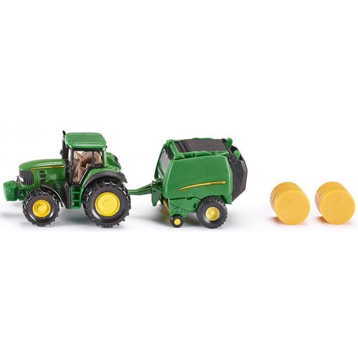 Siku Blister John Deere traktor s balíkovačkou