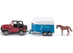 Siku Blister Terénní vůz s přívěsem a koněm
