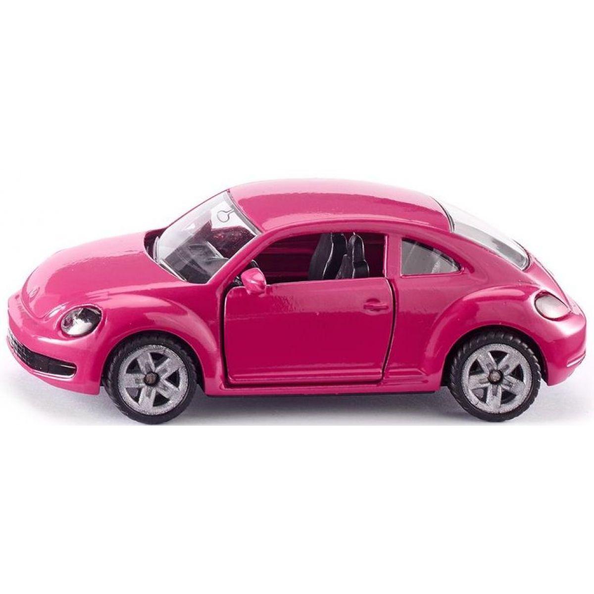 Siku Blister VW Beetle růžový s polepkama
