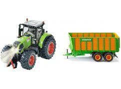 SIKU Control limitovaná edice traktor Claas Axion + silážní vůz Joskin