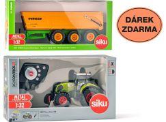 SIKU Control limitovaná edice traktor Claas Axion sklápěcí přívěs 2892 1:32
