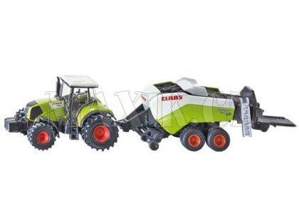Siku Farmer 1852 Traktor Claas Axion s lisem na velké balíky