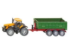 Siku Farmer 1855 Traktor Jcb Fasttrac s kontejnerovým přívěsem 8250