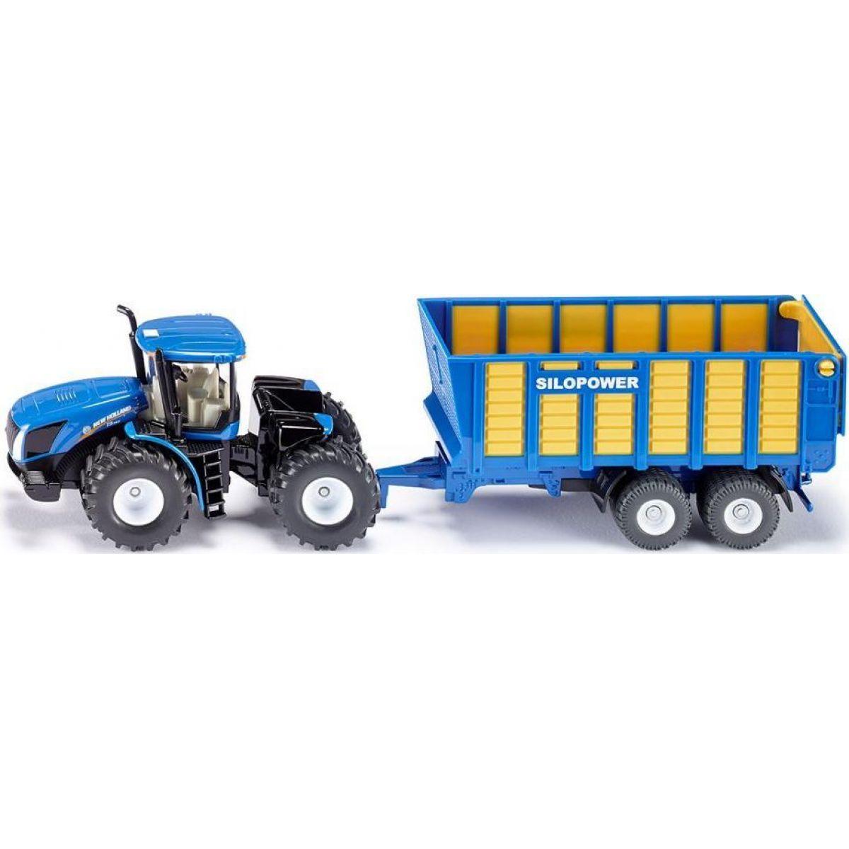 Siku Farmer Traktor New Holland s přívěsem Joskin 1:50