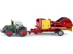 Siku Farmer Traktor s vlekem na sklizeň brambor 1:87