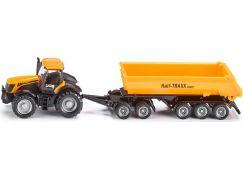Siku Farmer Traktor se sklápěcím přívěsem 1:87