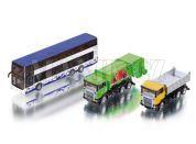 Siku Super 1813 Sada autobus, sklápěčka a popelářské auto