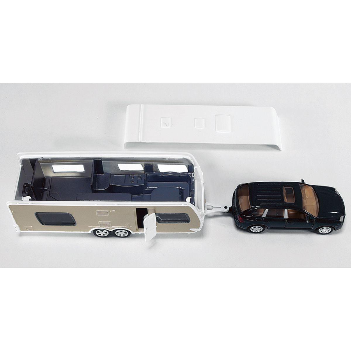 Siku Super 2542 Auto s obytným přívěsem #2