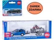 SIKU Super 25471004 Auto s vlekem a motorkou a dárek