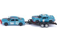 Siku super 2565 Dodge Charger se závodním autem na vleku