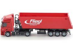 Siku Super Kamion s vyklápěcím vlekem červený 1:87