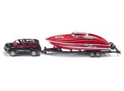 Siku Super Osobní vozidlo s motorovým člunem 1:55