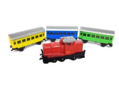 Siku Super Železniční sada, lokomotiva + 3 vagonky