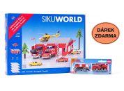 SIKU World 55021661 Požární stanice a dárek