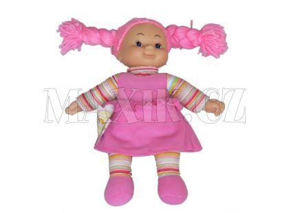 Simba Látková panenka Cheeky 38cm - Vlasy růžové zapletené