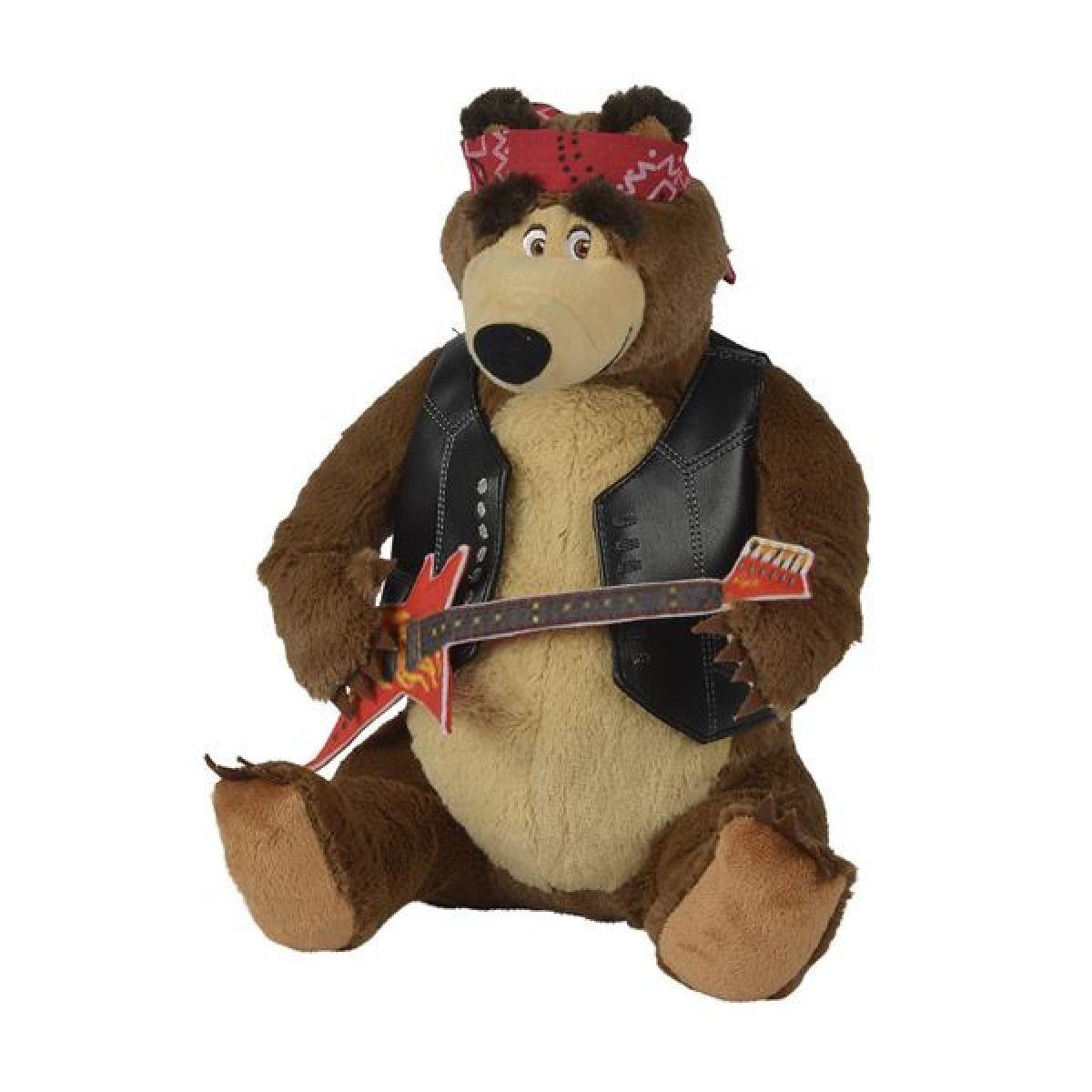 Simba Máša a medvěd Plyšový Medvěd rocker hrající 30cm