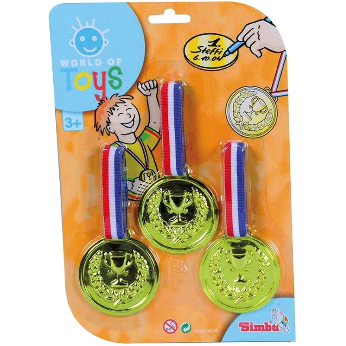 Simba Medaile 3ks - Zlaté