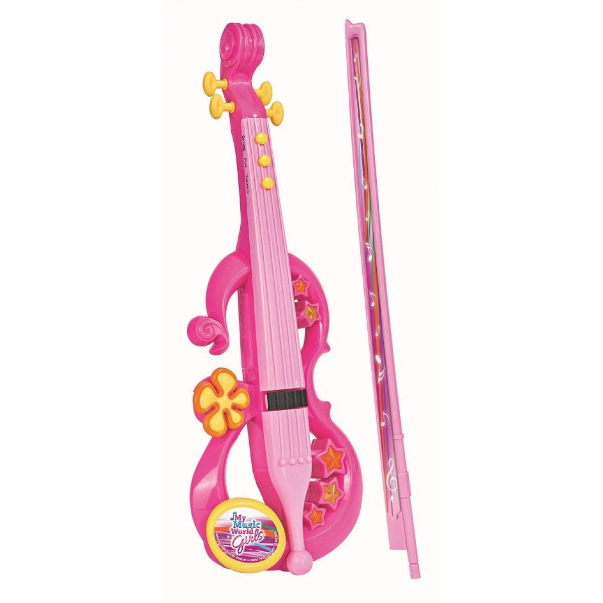 Simba My Music World Elektronické housle růžová
