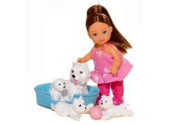 Simba Panenka Evička s domácími mazlíčky - Bílí pejsci