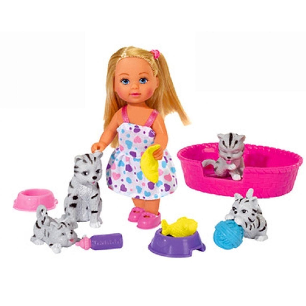 Simba Panenka Evička s domácími mazlíčky - Kočičky