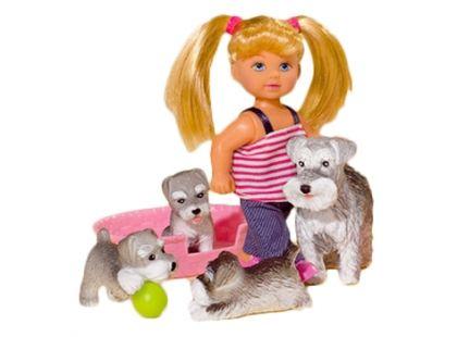 Simba Panenka Evička s domácími mazlíčky - Šedí pejsci