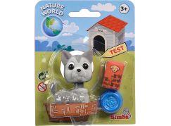 Simba Pejsek s kývací hlavou šedý