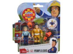 Simba Požárník Sam Figurky 2 ks s přísl. Penny a Elvis