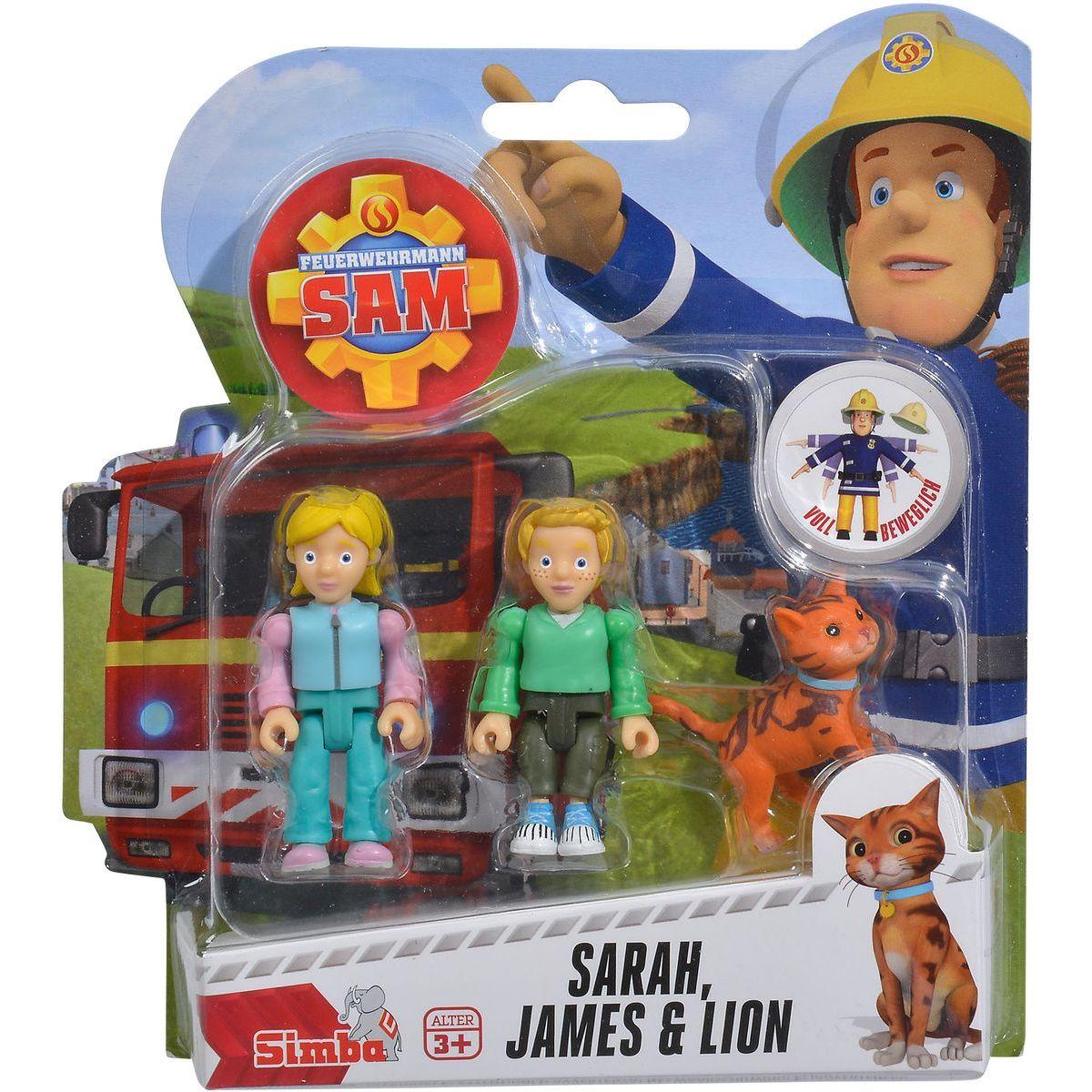 Simba Požárník Sam Figurky 2 ks s přísl. Sarah, James a Lion