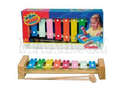 Simba Xylofon s 8 kovovými klávesami