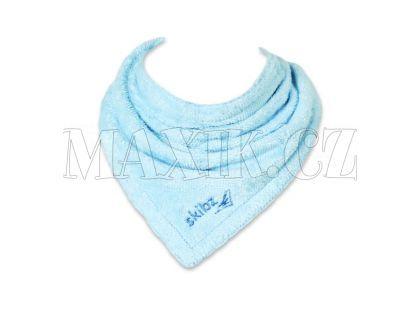 Skibz organická bavlna Baby Blue bryndák/slinták