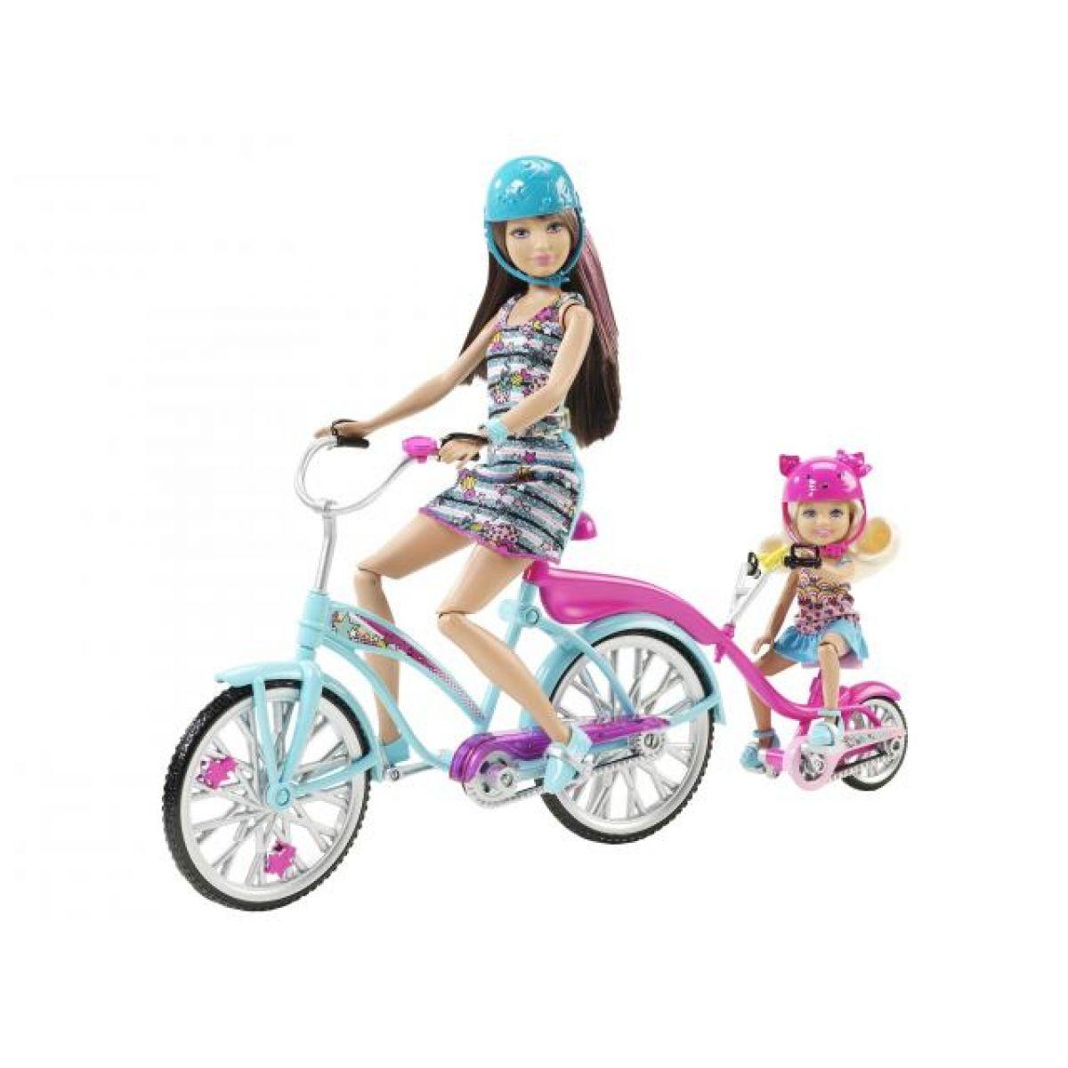 Skipper a Chelsea na kole Barbie V3131