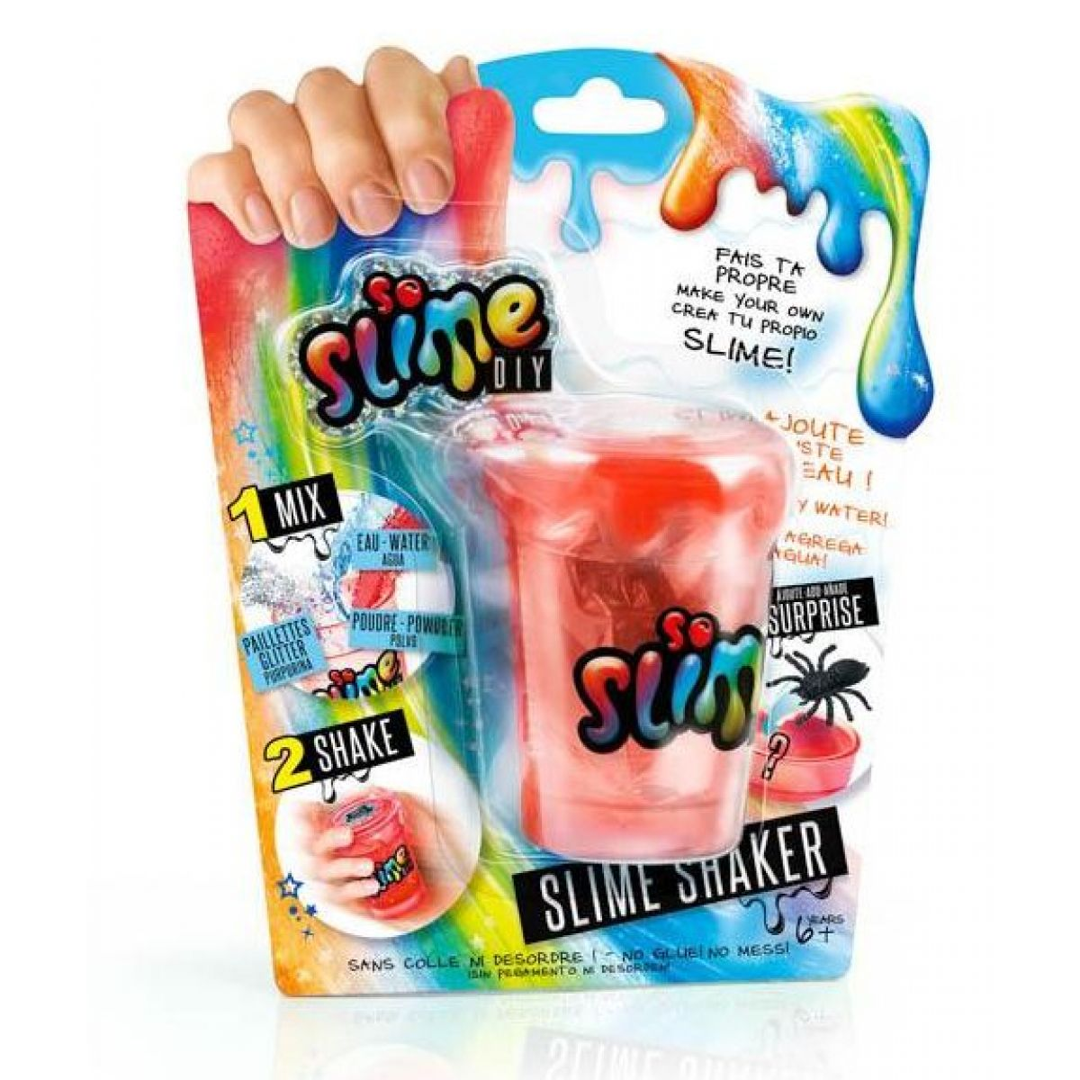 Slime sliz 1pack pro kluky červený