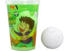 Slimy S3 sliz se svítící kuličkou zelený