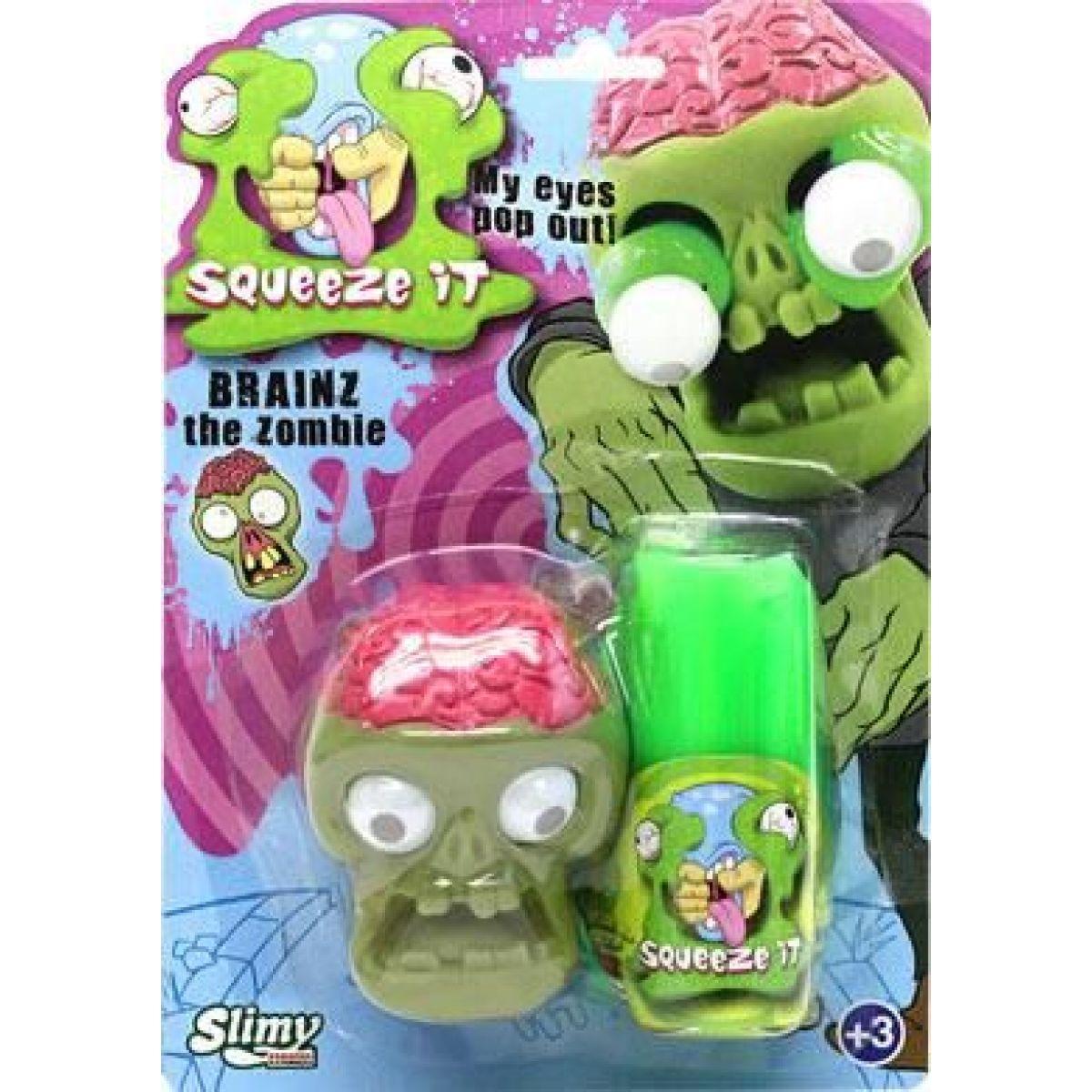 Slimy se zombie hlavou 80g slizu zelený sliz