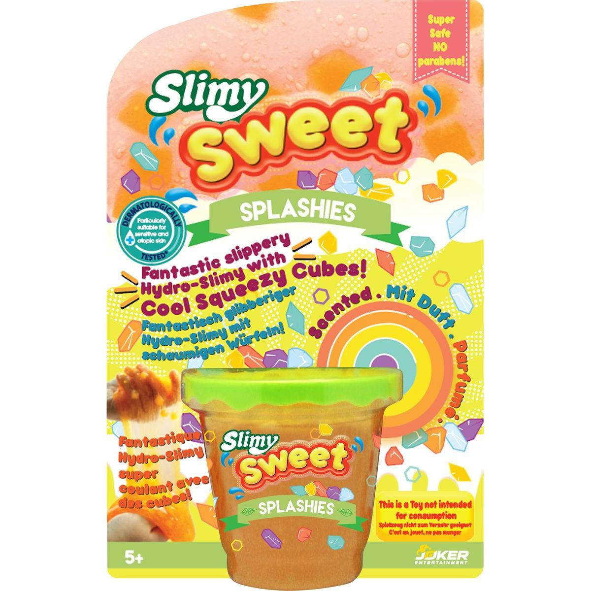 Slimy Sweet Splashies, 180 g oranžový