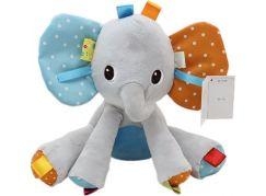 Slon sedící plyšový 22cm