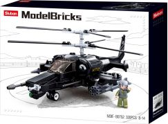 Sluban Stavebnice Bojový vrtulník Black Shark, 330ks